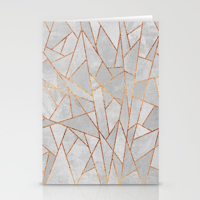 Shattered Concrete Stationery Cards