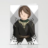 house stark Stationery Cards featuring Arya Stark by itsamoose