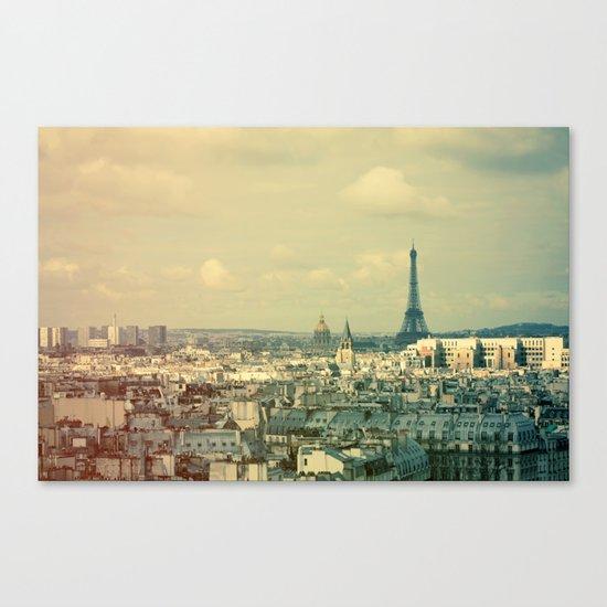 Pale Paris Canvas Print