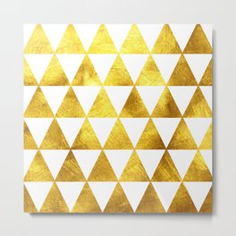 Gold Triangles Metal Print