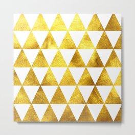 Gold Triangles Metal Print