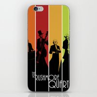 rushmore iPhone & iPod Skins featuring The Mt. Rushmore Quartet by Alan Bao