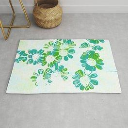 makenzie: floral tie dye, green Rug