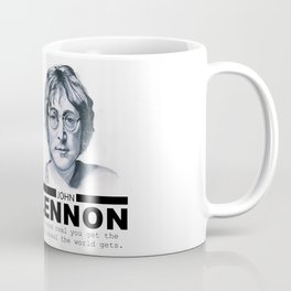 John Black & White Portrait Coffee Mug