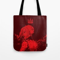 borderlands Tote Bags featuring maya the siren by hydrae