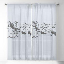 Faith, Hope and Charity Sheer Curtain