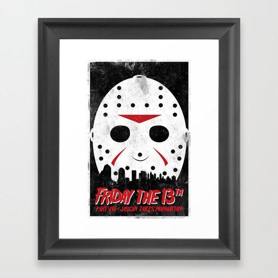 Friday The 13th Part VIII Framed Art Print
