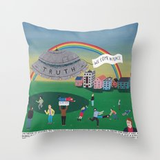 The extraterrestrial threat called Truth Throw Pillow