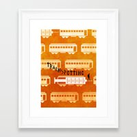 trainspotting Framed Art Prints featuring Trainspotting by grrrenadine