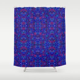 """""""NeonBlue Peace Rose"""" by surrealpete Shower Curtain"""
