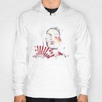 subaru Hoodies featuring Japanese Creepy Geisha by viva la revolucion