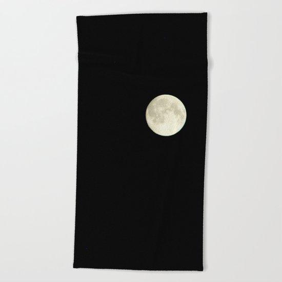 The moon over my balcony Beach Towel