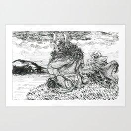 Inktober 2018: Tranquil Art Print