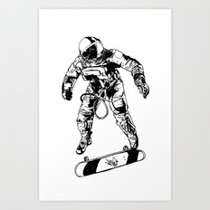 Astro-Skater Art Print
