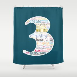 Life Path 3 (color background) Shower Curtain