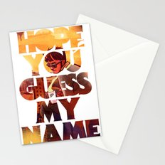 Hope you Guess my Name - White Stationery Cards