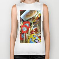junk food Biker Tanks featuring Junk Food by Renatta Maniski-Luke
