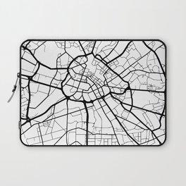MANCHESTER ENGLAND BLACK CITY STREET MAP ART Laptop Sleeve