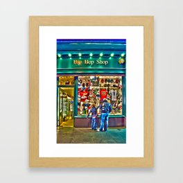 Hip Hop Dance Shop Framed Art Print