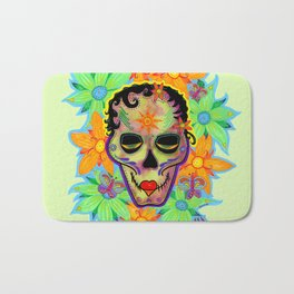 Sugar Skull Modern Mary Bath Mat