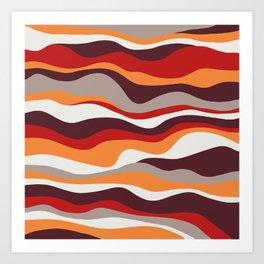 Cordillera Stripe: Red, Orange Combo Art Print