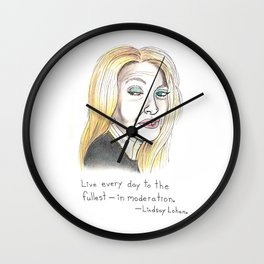 Live Every Day To The Fullest Wall Clock