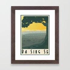 Ba Sing Se Travel Poster Framed Art Print