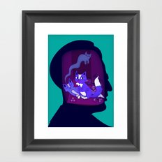 schrodinger's cat Framed Art Print