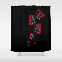 Chinese wall flowers Shower Curtain