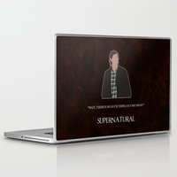 sam winchester Laptop & iPad Skins featuring Supernatural - Sam Winchester by MacGuffin Designs