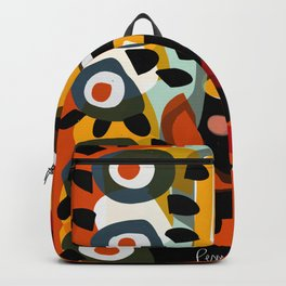African Woman is dreaming in the sunrise Backpack