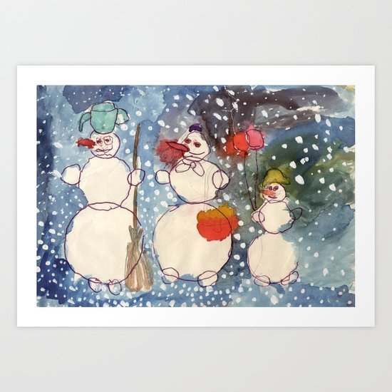 Frozen Family Art Print