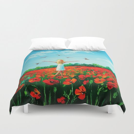 Flying soul Duvet Cover