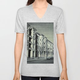 THE MAGICAL STREET OF SZCZECIN Unisex V-Neck