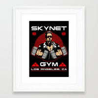 gym Framed Art Prints featuring Skynet Gym by Buby87