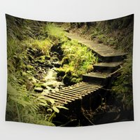 bridge Wall Tapestries featuring Bridge by JJ's Graphics & Photography