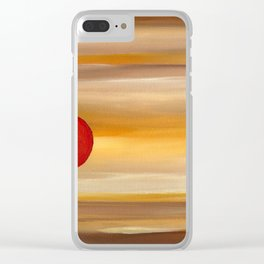 Acrylic Abstract Painting Sunny Day Clear iPhone Case