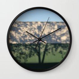 Shadow Tree on an industrial building Wall Clock
