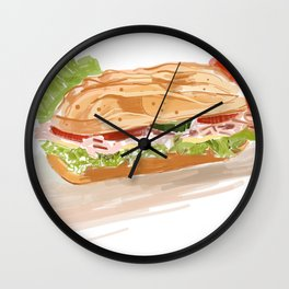 National Hoagie Day Wall Clock