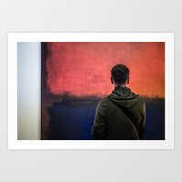 rothko Art Prints featuring Watching Rothko by Hipogrifos
