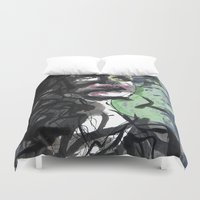 howl Duvet Covers featuring Silent Howl by Noir Malariu