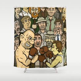 The Boxer Shower Curtain