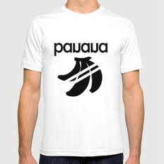 banana White SMALL Mens Fitted Tee