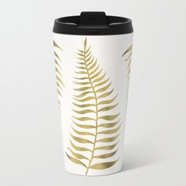 Golden Palm Leaf Travel Mug