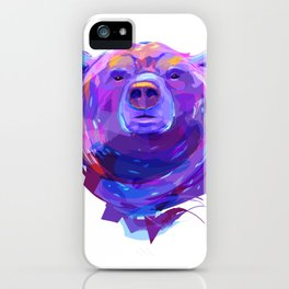 Grizzly bear (Animal set) iPhone Case