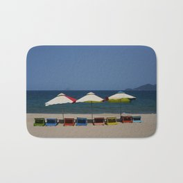 Beach Umbrellas in Nha Trang Bath Mat