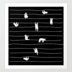 Sloth Stripe Art Print