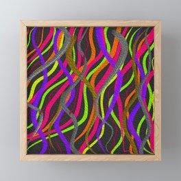 Electric Squiggles Framed Mini Art Print