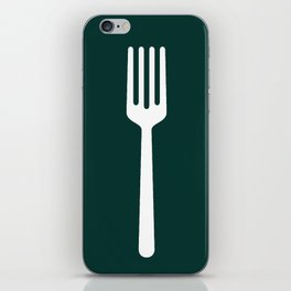 fork and plate iPhone Skin