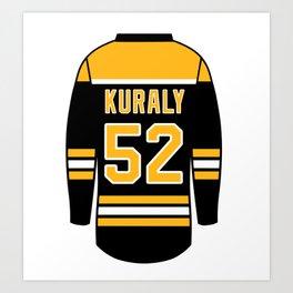 Sean Kuraly Jersey Art Print